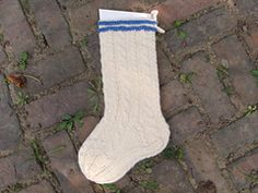 Ravelry: Winter White Christmas Stocking pattern by Peg Alexander