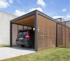 You can make pergola carport designs at the space provided in your home. You can design pergola of your own style with wooden sticks or poles. Carport Garage, Pergola Carport, Building A Pergola, Outdoor Pergola, Wooden Pergola, Pergola Kits, Carport Plans, Enclosed Carport, Garage Closet