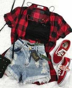 Teen fashion, You can collect images you discovered organize them, add your own ideas to your collections and share with other people. Edgy Outfits, Teen Fashion Outfits, Mode Outfits, Grunge Outfits, Cute Casual Outfits, Outfits For Teens, Fall Outfits, Plaid Outfits, Hipster Outfits