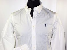 Ralph Lauren end on end poplin men's shirt size small NEW on SALE white #ralphlauren #ButtonFront