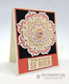 Stampin up stampinup order online pretty floral frames framelits dies big shot daydream medallions card idea