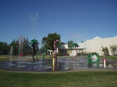 Regina's Realtors Park Spray Pad- Outdoor spray pad areas offer your family a great water play experience and a novel way to cool off during the summer. Visit www.Regina.ca for a complete list of locations. #yqr #regina