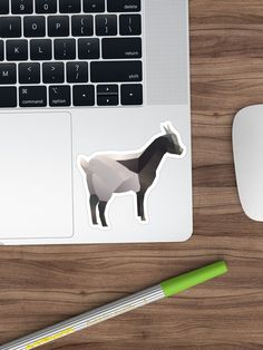 Bring out your wild side with our geometric goat print. Geometric Animal, Goats, Finding Yourself, Stickers, Unique, Artwork, Animals, Design, Work Of Art