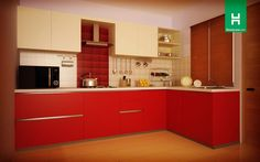 Robin Cardinal L-Shaped Kitchen (without-handle)    The wise men used to say that the good things always come in small packages and this L-shaped kitchen proves them absolutely right.