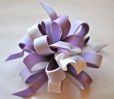 How to Make a Multi Colored Loopy Bow
