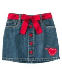 Girls' Clothing (Sizes 4 & Up) Gymboree Valentines Day Denim Heart Button Hem Belted Skort 3 4 5 6 7 8 9 10 12 Baby Outfits, Teen Girl Outfits, Cute Outfits For Kids, Toddler Outfits, Cute Kids Fashion, Girl Fashion, Newborn Boy Clothes, Babies Clothes, Kind Mode