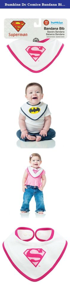 "Bumkins Dc Comics Bandana Bib, Superman Pink, 0-9 Months. Designed for the littlest of superheroes, Bumkins Printed Bandana Bibs are made of 100% cotton with an inner waterproof layer. The perfect bibs for teething babies with the perpetual wet chin, little ones can now show off their superhero status. The Bandana Bib has an adjustable snap closure that allows bib to fit up to 9 months. Machine washable. Bibs measure approximately 9"" across, 5.25"" from the neck down. BPA, PVC, vinyl..."