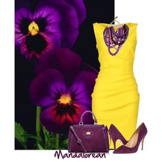 """""""Purple and Yellow"""" by mandalorean on Polyvore"""