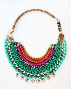 ZAWADY colorful statement necklace by ARARACUARA on Etsy, $70.00