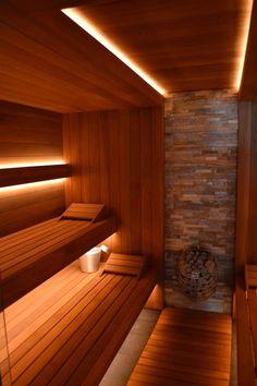 Light in sauna Sauna Design, Deck Design, Building A Sauna, Home Spa Room, Indoor Sauna, Sauna Room, Saunas, Suites, House Plans