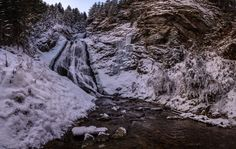 Winter waterfall, Romania - Photography by Arpad Laszlo