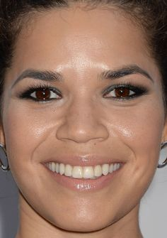 Close-up of America Ferrera at the 2016 premiere of 'Paint It Black'. http://beautyeditor.ca/2016/06/30/beautiful-skin-cate-blanchett