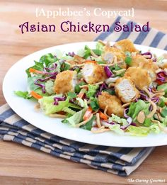 Applebee's Asian Chicken Salad copycat recipe! Make this delicious salad at home for a fraction of the cost with phenomenal results!