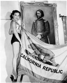 Unveiling of a painting of Lieutenant Colonel John C. Fremont to be placed at the Campo de Cahuenga in North Hollywood, 1955. The building, a historic landmark, is located across the street from Universal Studios. San Fernando Valley Historical Society. San Fernando Valley History Digital Library.