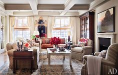 Living Room of Ali Wenworth and George Stephanopoulos