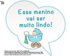 Plaquinhas Divertidas Chá de Bebê Menino 20