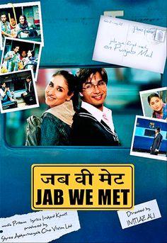 Jab We Met is my favorite Bollywood film! After all it has my favorite Bollywood actors Shahid Kapur and Kareena Kapoor. Best Bollywood Movies, Bollywood Actors, Bollywood Memes, Shahid Kapoor, Kareena Kapoor, Bollywood Posters, Indian Movies, Film Music Books, Online Gratis