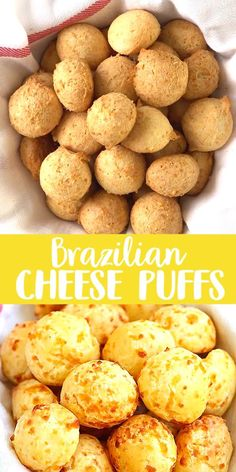 Recipes Snacks Videos Brazilian Cheese Puffs - fully loaded Pão de Queijo with Parmesan cheese. These cheese puffs are addictive and taste just like Brazilian restaurant's! Brazilian Cheese Puffs, Baby Food Recipes, Cooking Recipes, Easy Recipes, Beef Recipes, Appetizer Recipes, Dessert Recipes, Dinner Recipes, Desserts