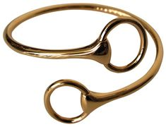 Vintage #Hermes 18k gold snaffle bracelet is simple, sinuous and flawless.