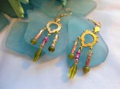 Dangle  beaded Earrings-Free Shipping!!