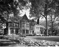 At 18,000 square feet, the 1922 English Tudor-style Fisher manor on Boston Boulevard is the largest home in the Boston-Edison district. At night, it's illuminated by six floodlights. Fresh landscaping replaced yews and trees that largely blocked the home from view. This would be one of my ideal homes!