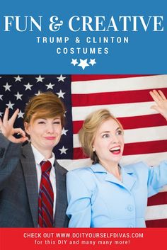 Do it yourself divas et and elliot halloween costume diy how to do it yourself divas diy donald trump and hilary clinton halloween costumes funny costumes ideas for friend or couples or duos solutioingenieria Gallery