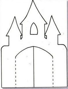 Castle Stencil for lapbook