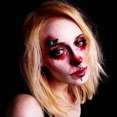 Bloody Butterfly by - mel et fel Halloween Outfits, Halloween Look, Halloween Face Makeup, Face Charts, Lipgloss, Butterfly, Inspiration, Beauty, Black Lipstick