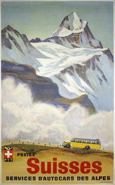 Services autocars des Alpes Postes Suisses
