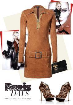 """Jitrois Stretch Leather Dress"" by fashionmonkey1 ❤ liked on Polyvore"