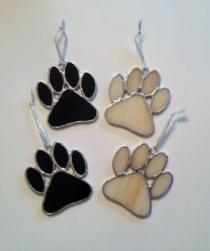 Stained Glass Paw Print Suncatcher/Ornament by QTSG on Etsy