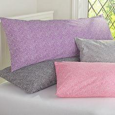 I love the Tuxedo Ruffle Body Pillow Cover on pbteencom Reverses to