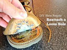 Don't throw out those shoes--fix them with this DIY Shoe Repair -- How to Reattach a Loose Sole