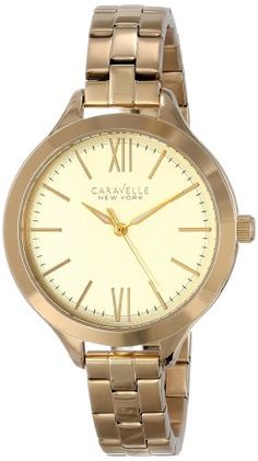 Caravelle New York Womens 44L127 Stainless Steel Watch -- Learn more by visiting the image link.
