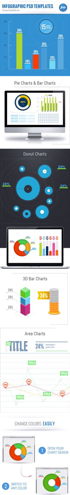 Infographic PSD set containing a massive amount of bar charts, pie charts, area charts, donut charts, 3D charts, column charts and line charts. Basically, we've got you covered for any project that needs a chart. This massive PSD set it the freebie you you were looking for, download it now! Continue reading →