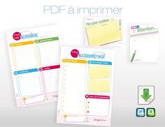 """Retrouvez dans ce kit <strong>à télécharger et imprimer chez vous</strong> : <ul> <li>un modèle de to do list """"A faire aujourd'hui""""</li> <li>un modèle de to do list """"A faire cette semaine""""</li> <li>6 notes """"A mon / ton attention""""</li> <li>6 notes """"Ne pas oublier de...""""</li> </ul> Disponible en pdf ou word"""