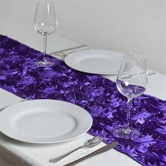 5pc X Purple Organza Chair Sash Wedding Flowers For
