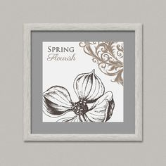 Spring II Wall Decoration Printable Digital Artwork by OopsyIdeas