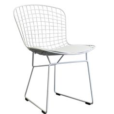Wire Side Chair Blanche