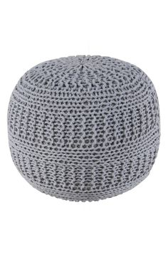 This gray woven pouf purchased from the NSale is definitely going to intensify the shabby-chic appeal of the current home decor.