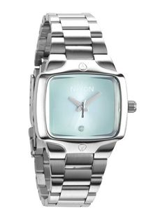 Nixon Small Player A-300-1231 Peppermint Damenuhr $260 #watch #watches steel bracelet