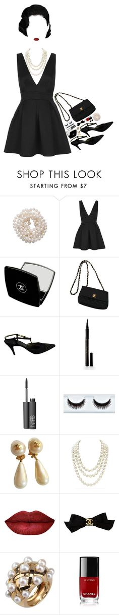 """#PolyPresents: Party Dresses"" by destiniet ❤ liked on Polyvore featuring Briolette, Oh My Love, Chanel, Elizabeth Arden, NARS Cosmetics, Ralph Lauren, contestentry and polyPresents"