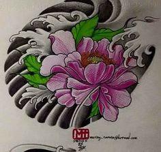 Flower Tattoo Drawings, Tattoo Sketches, Flower Tattoos, Floral Tattoo Design, Flower Tattoo Designs, Japanese Drawings, Japanese Art, Tattoo Chino, Chinese Prints