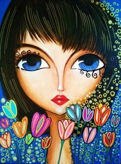 31 Ideas big canvas art abstract mixed media for 2019 Kunstjournal Inspiration, Art Journal Inspiration, Painting Inspiration, Art And Illustration, Art Visage, Arte Pop, Whimsical Art, Face Art, Mixed Media Art