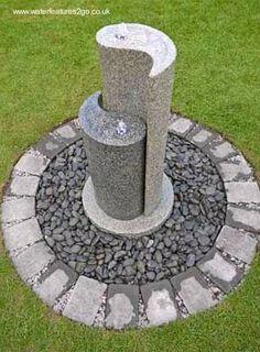 Fuente de agua jarrones de miel con grifo de hierro jardin for Jardin yin yang