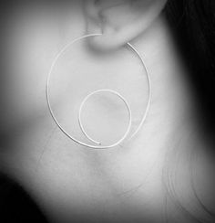 Snail Open Hoop Earrings  sterling silver looping open by alibli, $26.00