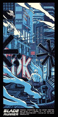 Blade runner poster illustration by Tim Doyle