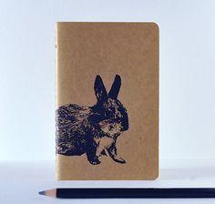 Cute Bunny Illustration Letterpress Printed by vandaliastreetpress