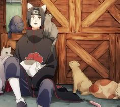 My 2 favorite things itachi and cats!!!