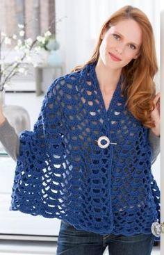 Fan Trellis Wrap Crochet Pattern